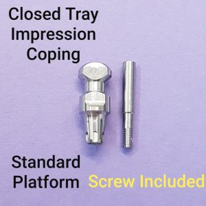 Closed tray impression coping Mis® Conical C1 V3 SP+ screw